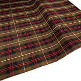 Uniform Plaid Fabric - 60' Wide x 5 Yard Long | 100% Polyester - Checked Pattern with Multiple Colors - for School Uniforms &Garments