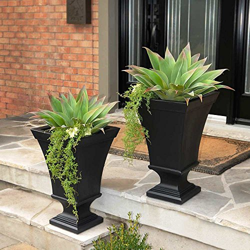 Vienna Planter 2-pack Made of High-grade Polyethylene (BLACK) -