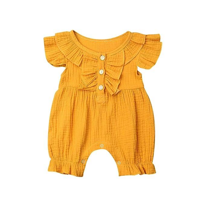 HEETEY - Pelele para niña, para Verano, para bebé, niña ...