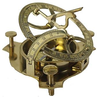 Zap Impex ® latón reloj de sol funcional Brújula 4 pulgadas: Amazon.es: Deportes y aire libre