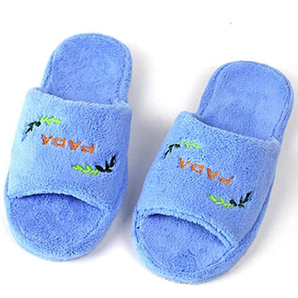 Oudan Winter Ladies House Cotton Shoes Fashion Massage Slippers Color : Red, Size : 37-38 Blue 37-38