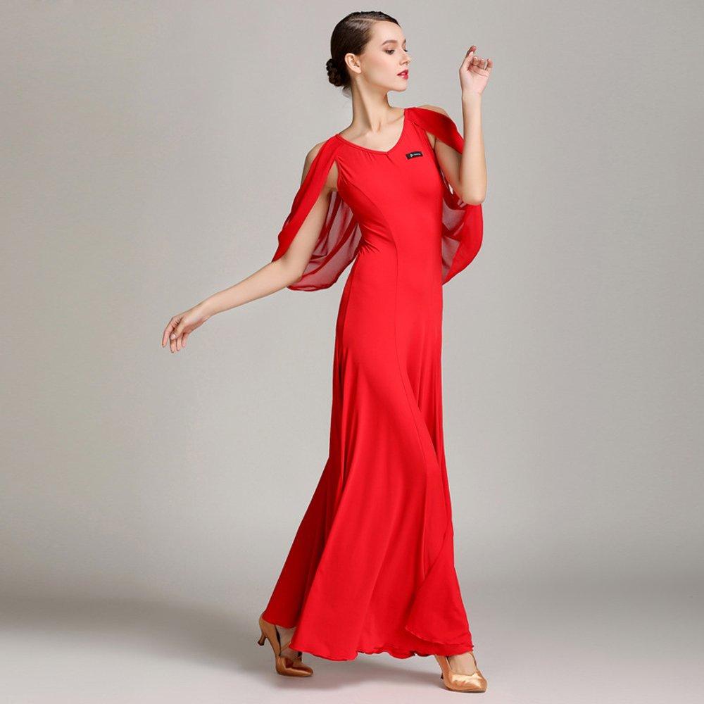 公式の店舗 現代の女性大きな振り子舞う糸ダンススカートタンゴとワルツダンスドレスダンスコンペティションスカートシフォンフローティングスリーブダンスコスチューム B07HHWXQCQ Large|Red Large|Red B07HHWXQCQ Red Red Large, 作東町:4410be04 --- a0267596.xsph.ru
