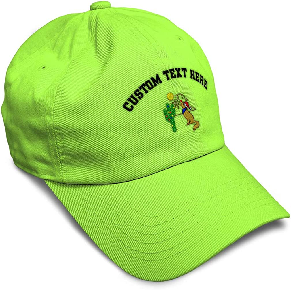 Custom Soft Baseball Cap Xmas Coyote Howling /& Cactus Embroidery Twill Cotton