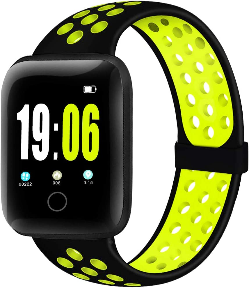 ElaikementSport Band Compatible for Watch Bands 38mm 40mm 42mm 44mm Women Men, Breathable Sporty Replacement Wrist Strap Compatible for Watch Series 6/5/4/3/2/1/SE All Various Styles, S/M M/L
