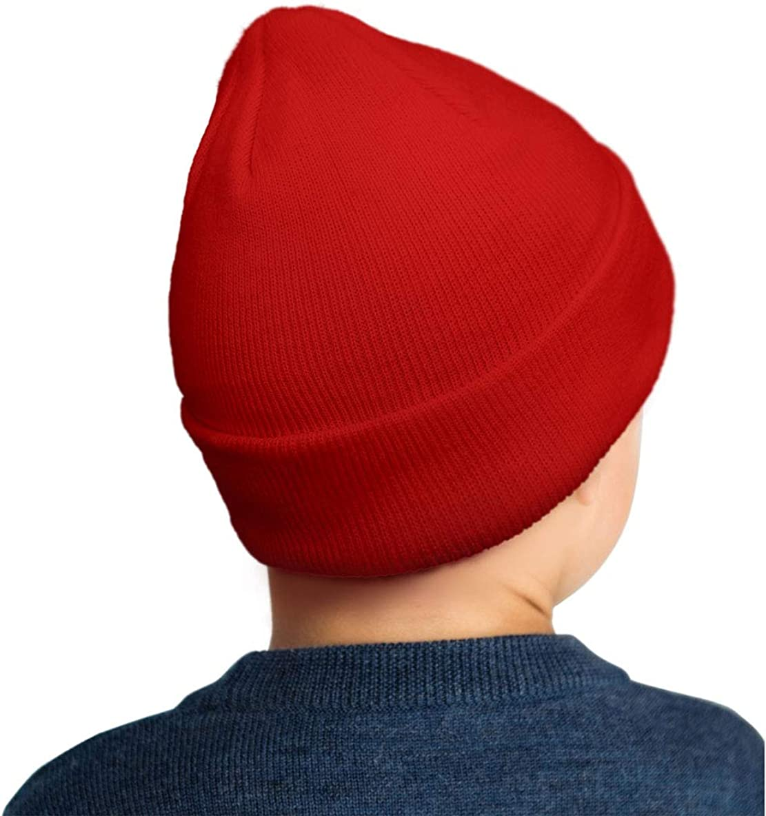 LONGCXBYUE PSE Archery PSE Logo Beanie Hats for Kids Cuffed Plain Winter Outdoor Sport Ski Knit Hats for Girls Boys