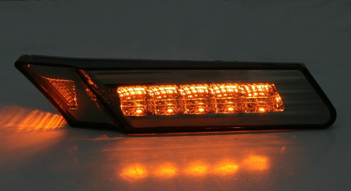 AD Tuning GmbH /& Co KG LED indicatore Laterale Set Vetro Trasparente Fumo