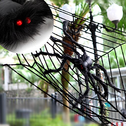 Giant Black Spider MerryMore 50 inch Large Plush Spider for Halloween (Hobo Costumes Ideas For Adults)