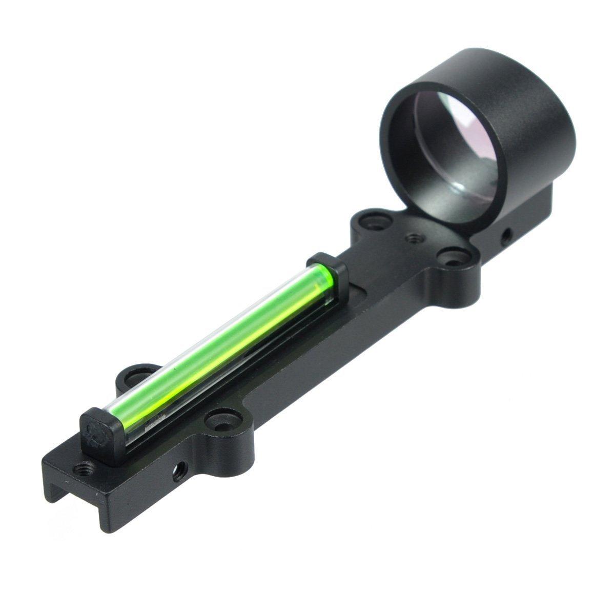 Gazelle Trading Fiber Optic Sight Pilad PF01x28. Reflx Sight with Light Red Dot. Works. 3 MOA. Shvabe (Green)