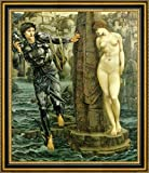 "The Rock of Doom by Edward Burne-Jones - 21"" x 26"" Framed Canvas Art Print - Ready to Hang"