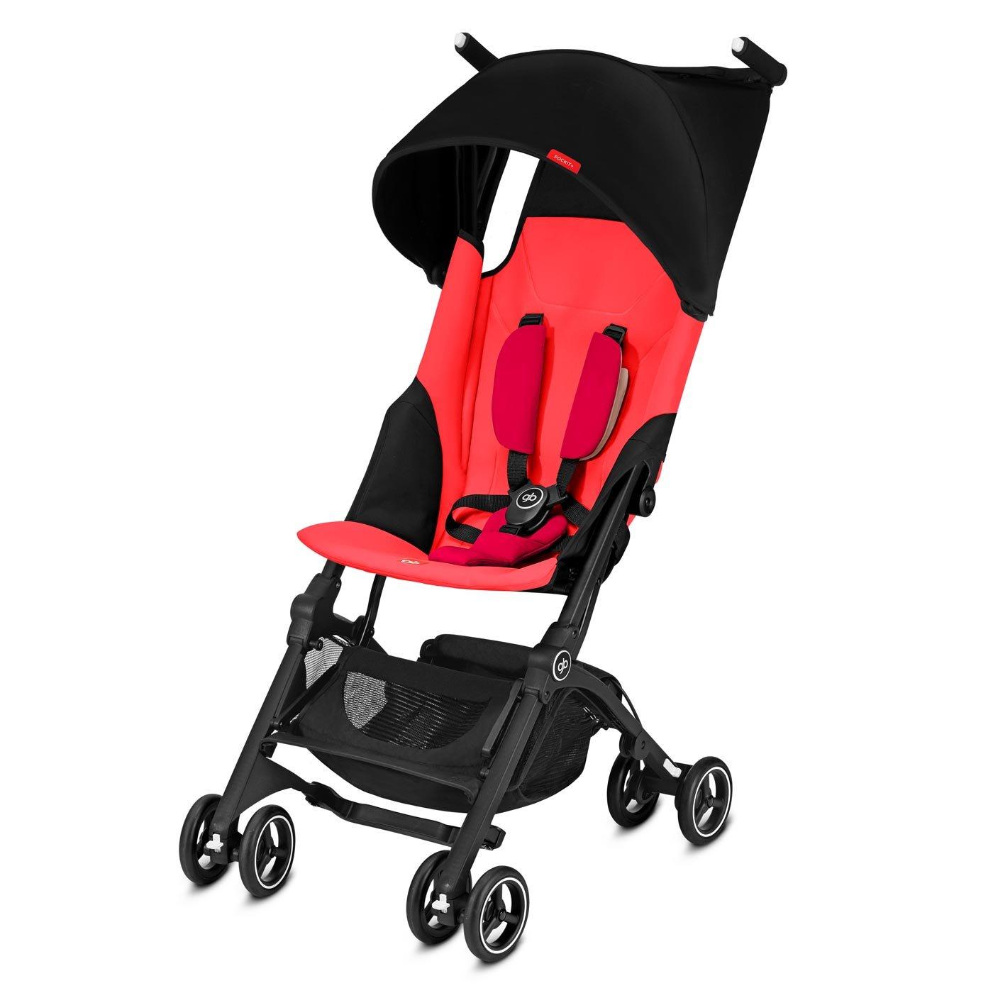 GB Pockit PLUS Stroller 2018 / multi-adjustable backrest / Light Traveler / from 6 Mo.-4Y. Cherry Red