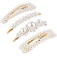 4pcs Moda Clips de pelo simple Perla fresca Pasadores de pelo Bobby Pin Pasadores de pelo para damas y niñas