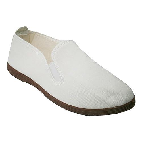 Zapatillas para Taichi kunfú y Yoga Irabia en Blanco