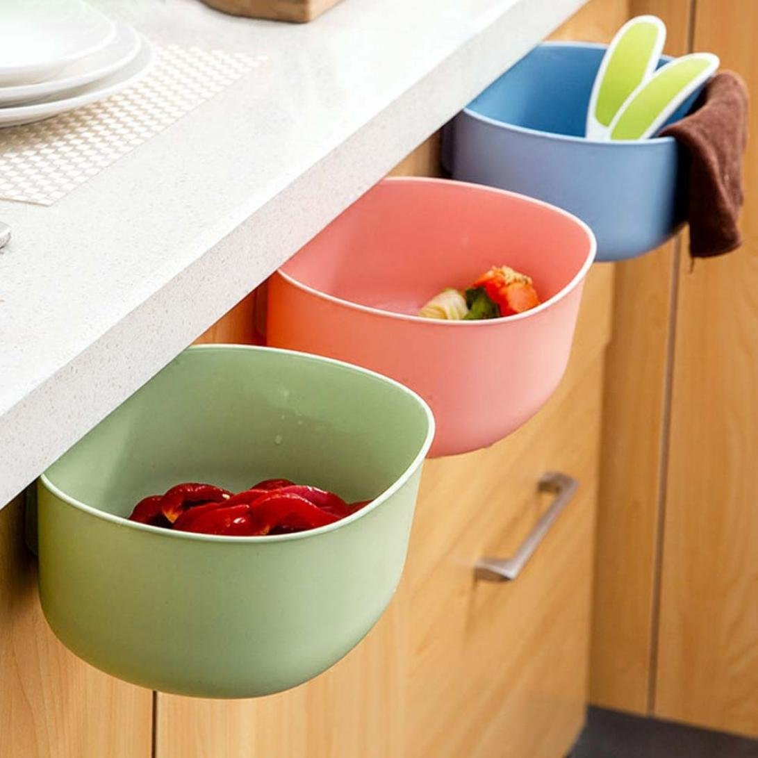 Binmer(TM) Environmental Hanging Kitchen Cabinet Door Trash Rack Style Storage Garbage Boxs (Green)