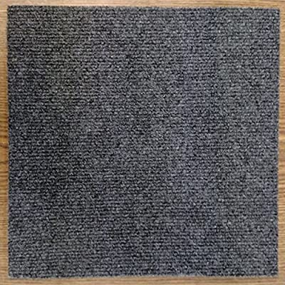 "Carpet Tiles Self Stick 12"" (72 Sq. Ft.) Charcoal Gray"