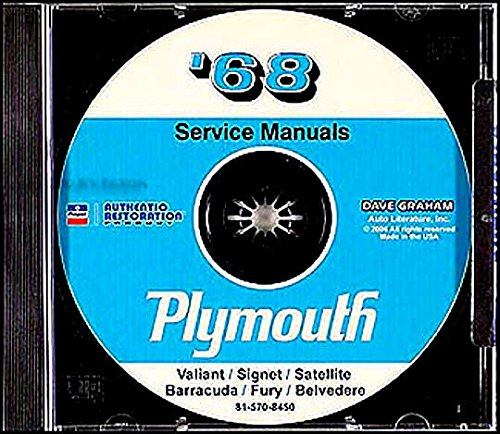 - A MUST FOR OWNERS, MECHANICS, RESTORERS - 1968 PLYMOUTH REPAIR SHOP & SERVICE MANUAL and BODY MANUAL CD COVERING Barracuda, Belvedere, Road Runner, Satellite, Sport Satellite, GTX, Fury (I, II, & III), Sport Fury, VIP, Valiant, Signet, Wagons