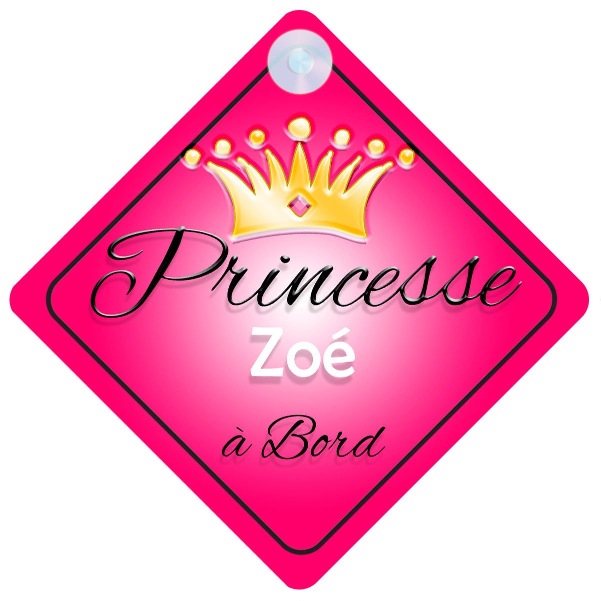 Princesse 001 Zoé Signe Pour Voiture Enfant/Bébé à Bord Quality Goods Ltd