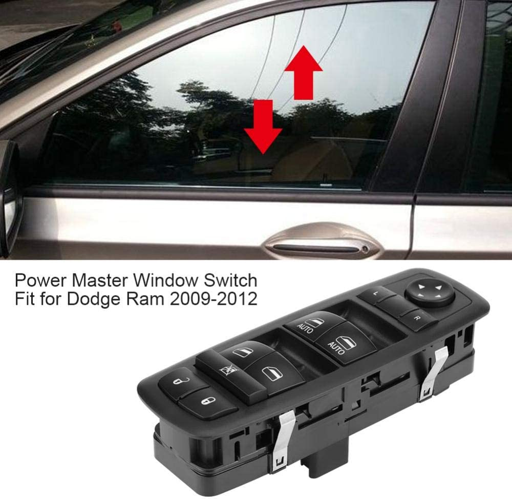 Acouto Front Left Driver Side Power Window Master Control Switch for Dodge Ram 2009-2012 4602863AD 4602863AB