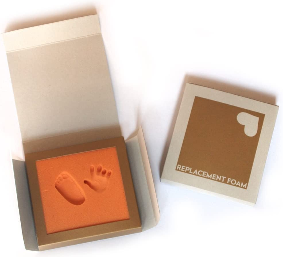 Made of Orthopaedic Tread Foam no Plaster . Baby Footprint kit Replacement Tread Foam for Baby Print Set Foam: Nude Simply Push Foot into The Foam and Youre Done