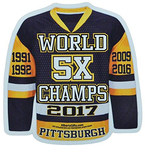 Jersey Magnet - Penguins 5X World Champs - Pittsburgh Penguins Magnets