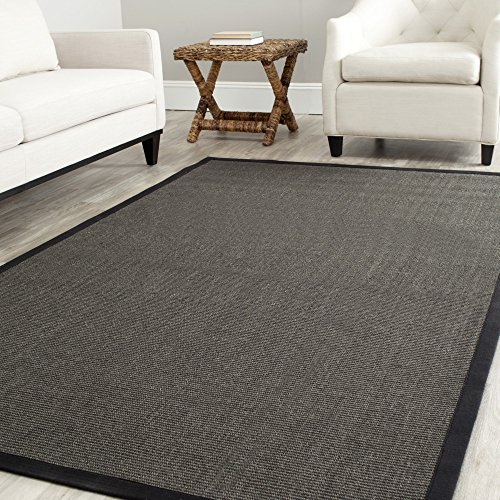 Safavieh Natural Fiber Collection NF441D Hand Woven Charcoal Sisal Square Area Rug (6' Square)