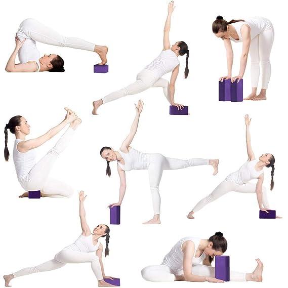 Amazon.com: Juego de bloques de yoga y correa de yoga ...