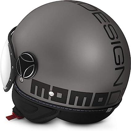 Momo Fighter Evo Helmet Motorcycle Motorbike Matt Titanium Frost Black