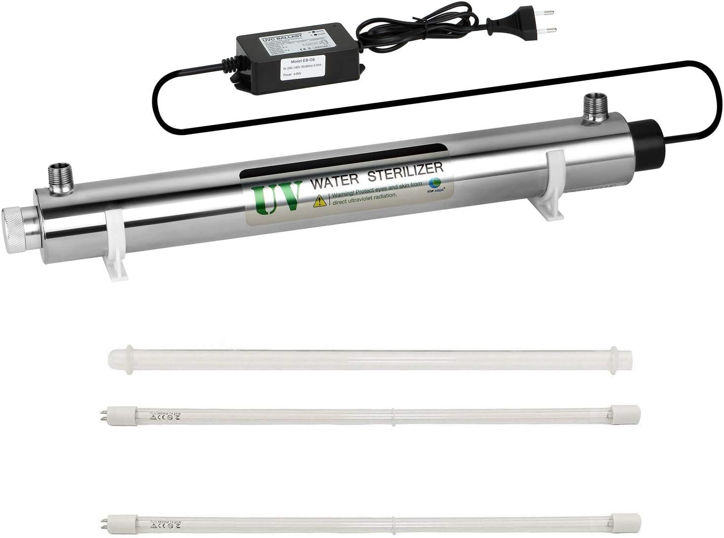 Sistema Tratamiento Filtro Agua UV Ultravioleta,ultra violeta filtro agua,Equipo tratamiento agua 25W 1tonelada,sistema purificación autolimpiante,purificador filtro ultravioleta,eficiente 99,99%
