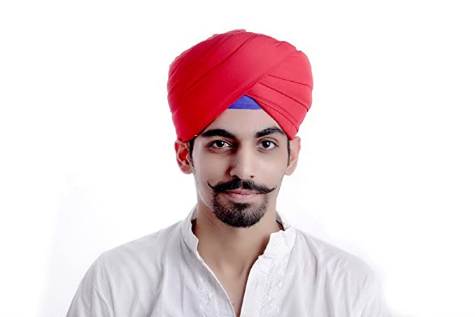8f29f1af67f Traditional Men s Indian Punjabi Paghadi Dastaar Turban - Red ...