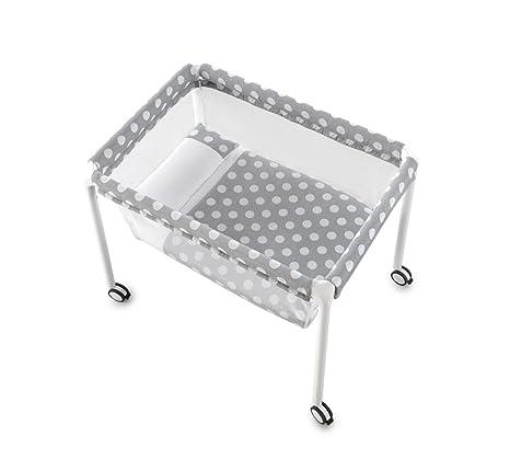 Takta Puzzle - Minicuna con ruedas, color gris