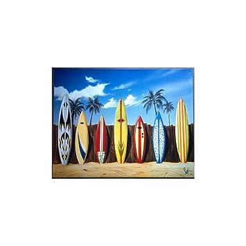 Unbekannt – Platte 7 Surfbrett, auf Strand Deco Meer Bar Snack ...