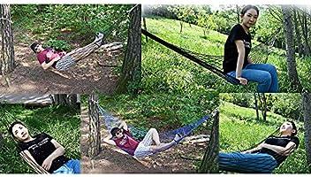 Hamaca de cuerda de nailon, hamaca de malla para exteriores, para jardín, playa, patio, porche, camping, dormir, capacidad de 100 kg, color verde: Amazon.es: Jardín