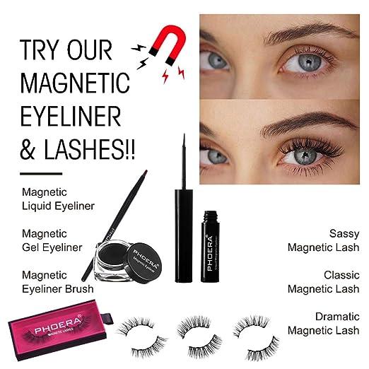 Amazon.com : Forart Magnetic False Eyelashes Eyeliner Liquid ...