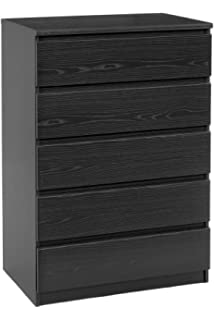 Tvilum  Drawer Chest Black Wood Grain
