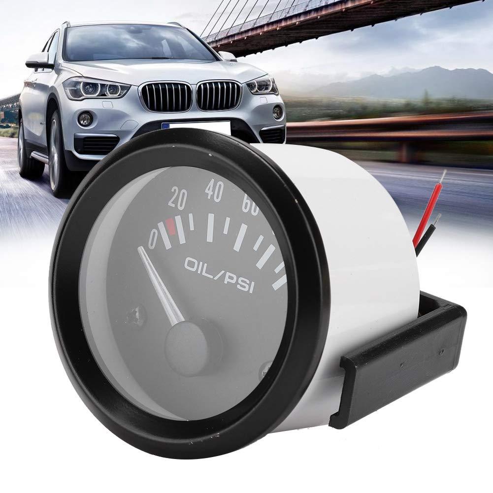 Medidor modificado autom/áticamente 0-100 PSI indicador de indicador de presi/ón de aceite electromagn/ético universal para autom/óvil de 52 mm//2 pulg EBTOOLS Indicador de presi/ón de aceite de 12 V