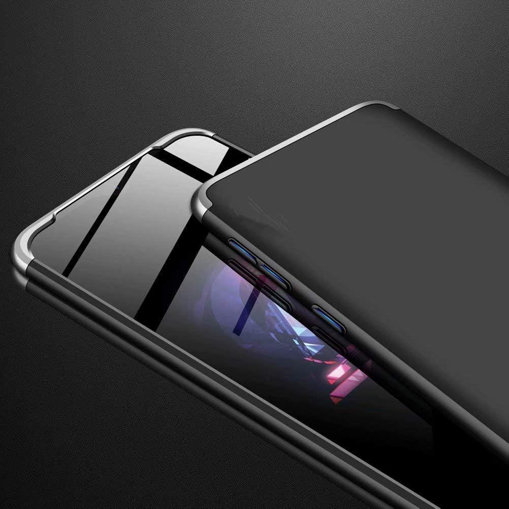 Azihone Funda Compatible Huawei P30 Pro con 360/°Todo Incluido Anti-Scratch 3 en 1 Hard PC Caja Cover Resistente al Desgaste+Regalar 2*HD Vidrio Templado Carcasa Case-Negro