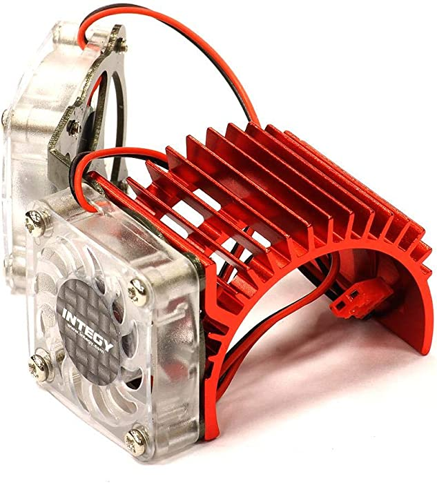 Integy RC Model Hop-ups C23251RED Twin Cooling Fan + Heatsink for 540/550 Size Motor w/ 36mm O.D.
