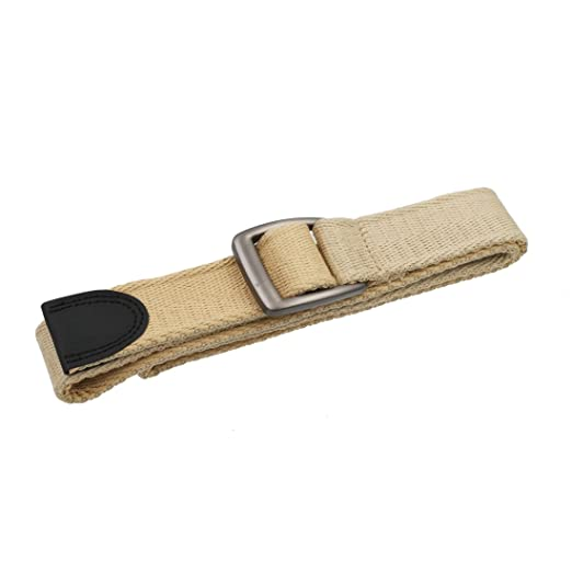 Hitvlis Two tone color Canvas Web Belt Unisex Military Style 1.5 inch Belt  with matt metal a3e020f81dd