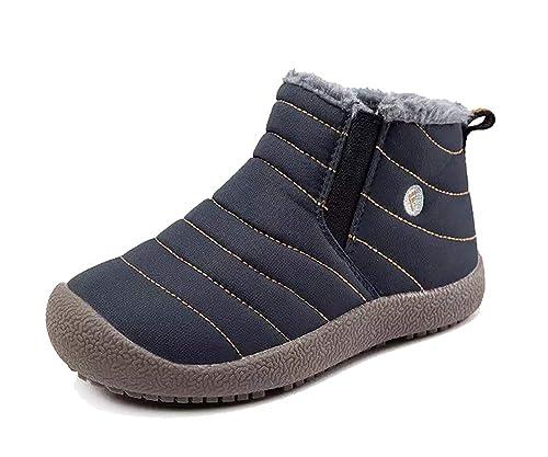 Botas Niños Impermeable Botas de Nieve Niños y Niñas Caliente Bota de Invierno Fur Aire Libre Boots Botines Invierno Zapatos: Amazon.es: Zapatos y ...