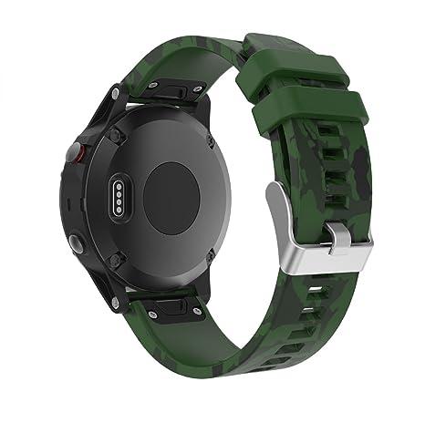 Garmin Fenix 5 Banda, TOPsic Silicona Reemplazo Correa con 2pzs Destornilladores para Garmin Fenix 5 / Forunner 935 Smart Watch, 13.5cm-22.5cm, no ...