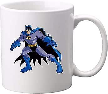 مج سيراميك مطبوع عليه رسمة باتمان من يولو، أبيض