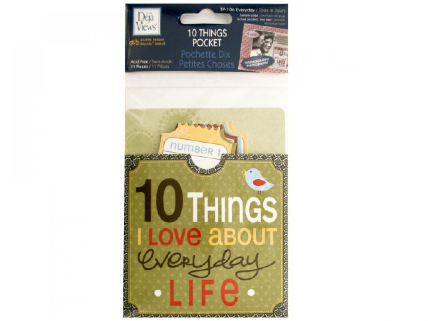 StarSun Depot 10 Things I Love About Everyday Life Journaling Pocket - Set of 24, [Scrapbooking, Scrapbook Accents]