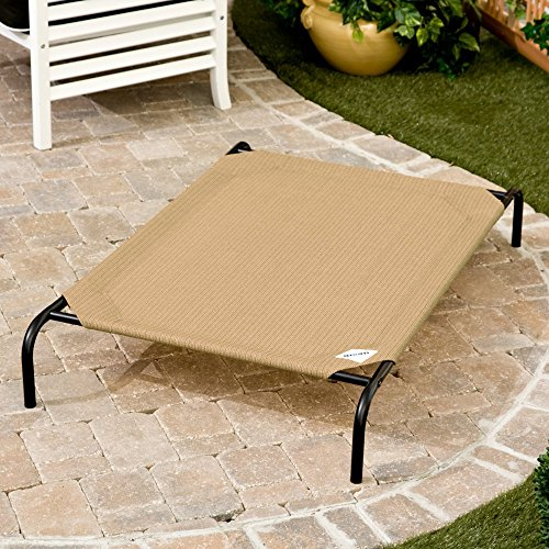 Coolaroo Deluxe Dog Bed with Replacement Cover - X-Large - Desert Sand