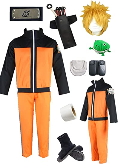 Naruto Shippuden Naruto Uzumaki 2nd Children Cosplay Costume Halloween