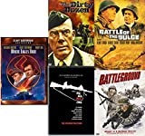 Battle of the Bulge / The Dirty Dozen / Where Eagles Dare / Battleground / The Big Red One Military War Action Movie Bundle