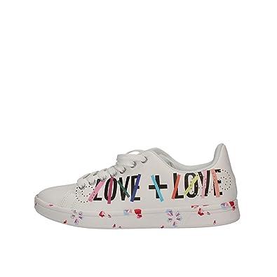 Desigual 18sskp08 - Zapatillas Bajas Mujer Blanco Talla 37: Amazon.es: Zapatos y complementos