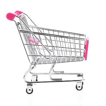 jeephuer Creative Mini carrito de la compra carro de supermercado carrito con ruedas Asiento (Rosy): Amazon.es: Hogar
