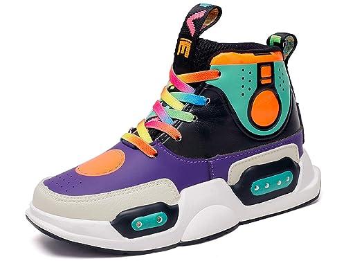 GJRRX LED Zapatos Primavera-Verano-Otoño Transpirable Zapatillas LED 7 Colores Recargables Luz Zapatos de Deporte de Zapatillas con Luces para Niños Niñas ...