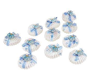 Caja de regalo de 12 piezas con diseño de conchas de conchas de ...