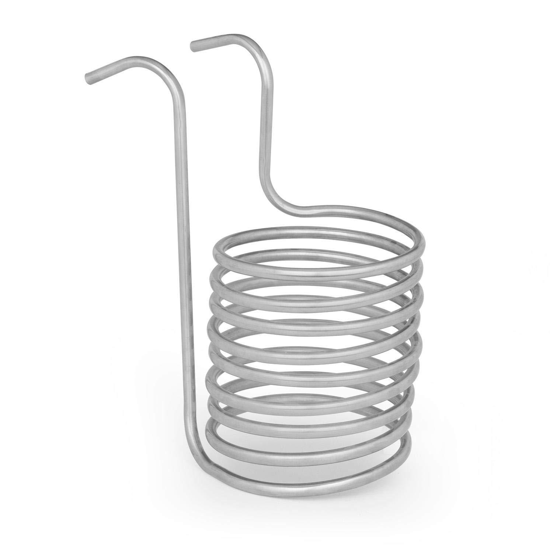 Klarstein Chiller 6 Eintauchkühler • Wasserkühlspirale • Würzekühler • schnelle Abkühlung der Biermaische • 20 cm Ø • 9 Kühlschleifen • 100 °C auf Raumtemperatur in 30 Minuten • Ed