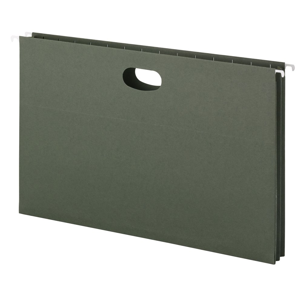 Smead Hanging File Pocket, 1-3/4'' Expansion, Legal Size, Standard Green, 25 per Box (64318)